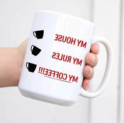 Knives Out Mug My House My Rules Coffee Mug