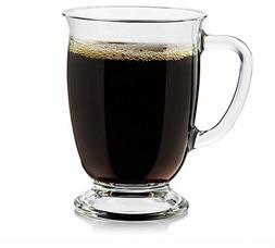 Kona Dinnerware Large Glass Hot Coffee Tea Drinking Cup Mugs