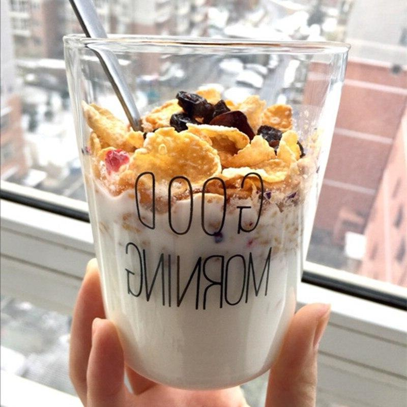 1 pcs lovely glass breakfast font b