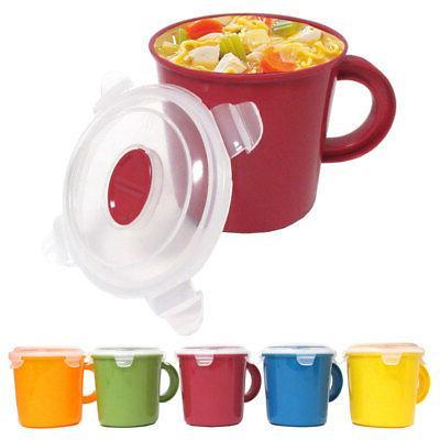 Travel BPA Free Soup Mug Cup 23 oz Take Out Microwave Safe C