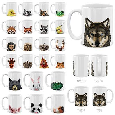 11 oz animal design ceramic travel mug