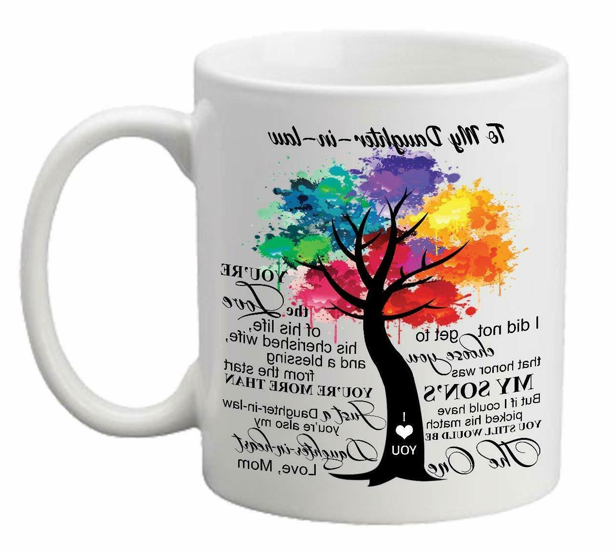 11 OZ MUG Gift For Daughter in Law From Mom To My Daughter i