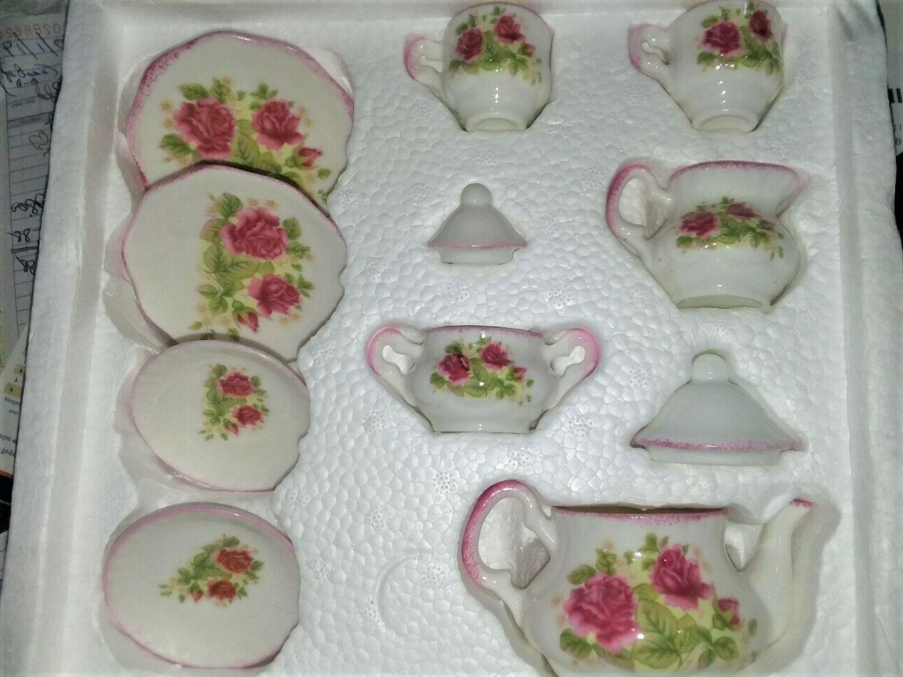Teatime Treasures 11 Piece Bone China Child Tea Party Set fo