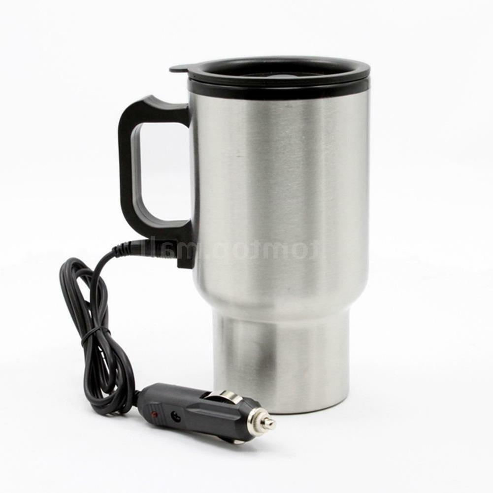 12v heated stainless steel travel portable car