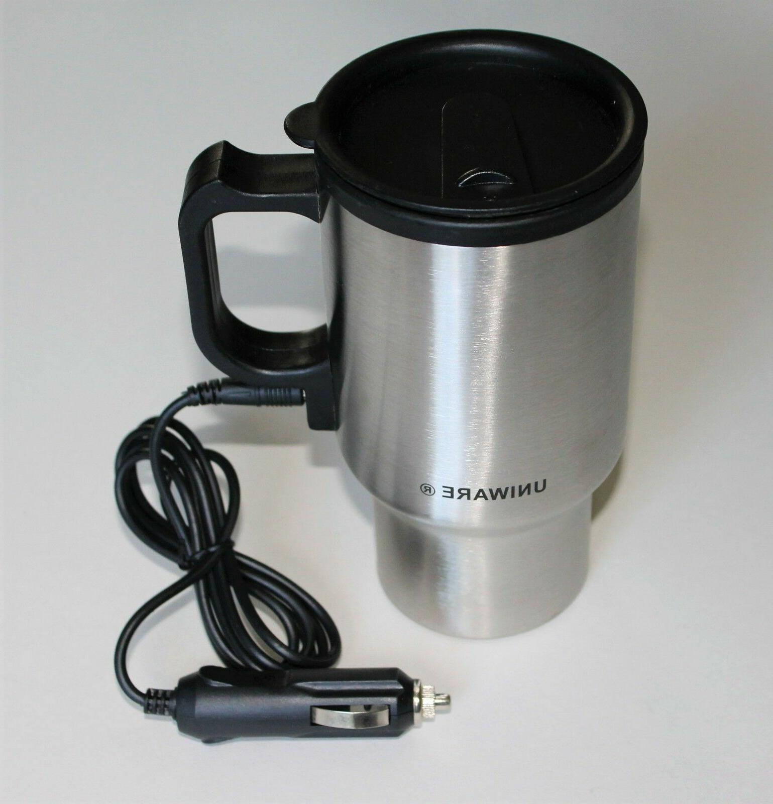 12V Thermos Electric Heated Travel Mug Stainless Steel Coffe