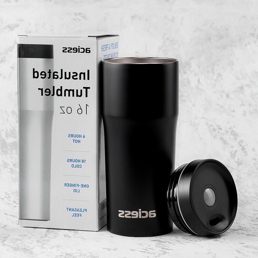 16 OZ Coffee Travel Mug for Car - Double Mug Stainless steel tumbler