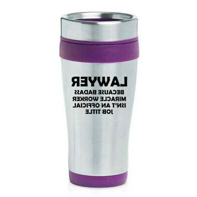 16 oz Travel Coffee Mug Job Title Funny