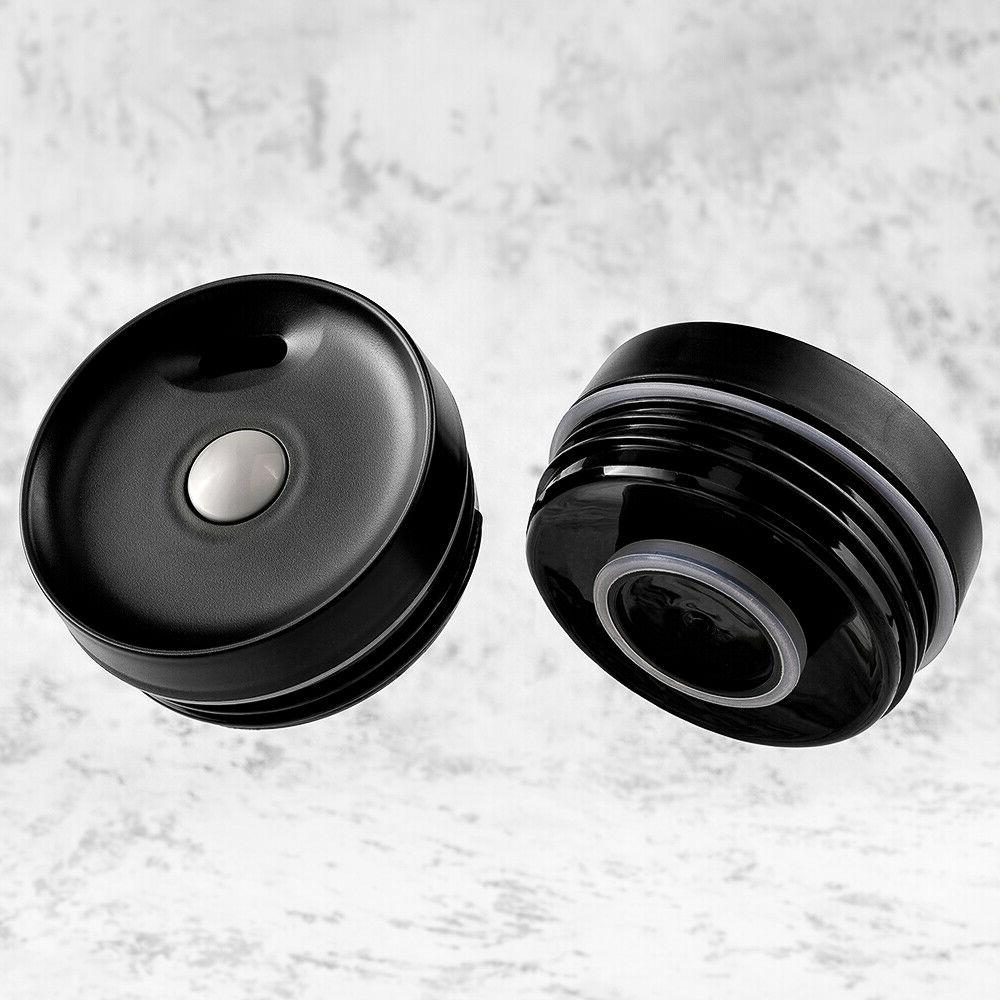 16 OZ Travel Tumbler Stainless Black Cup wall Mug