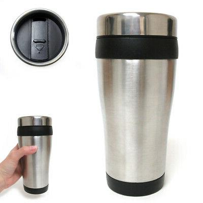 16oz cup insulated coffee travel mug stainless