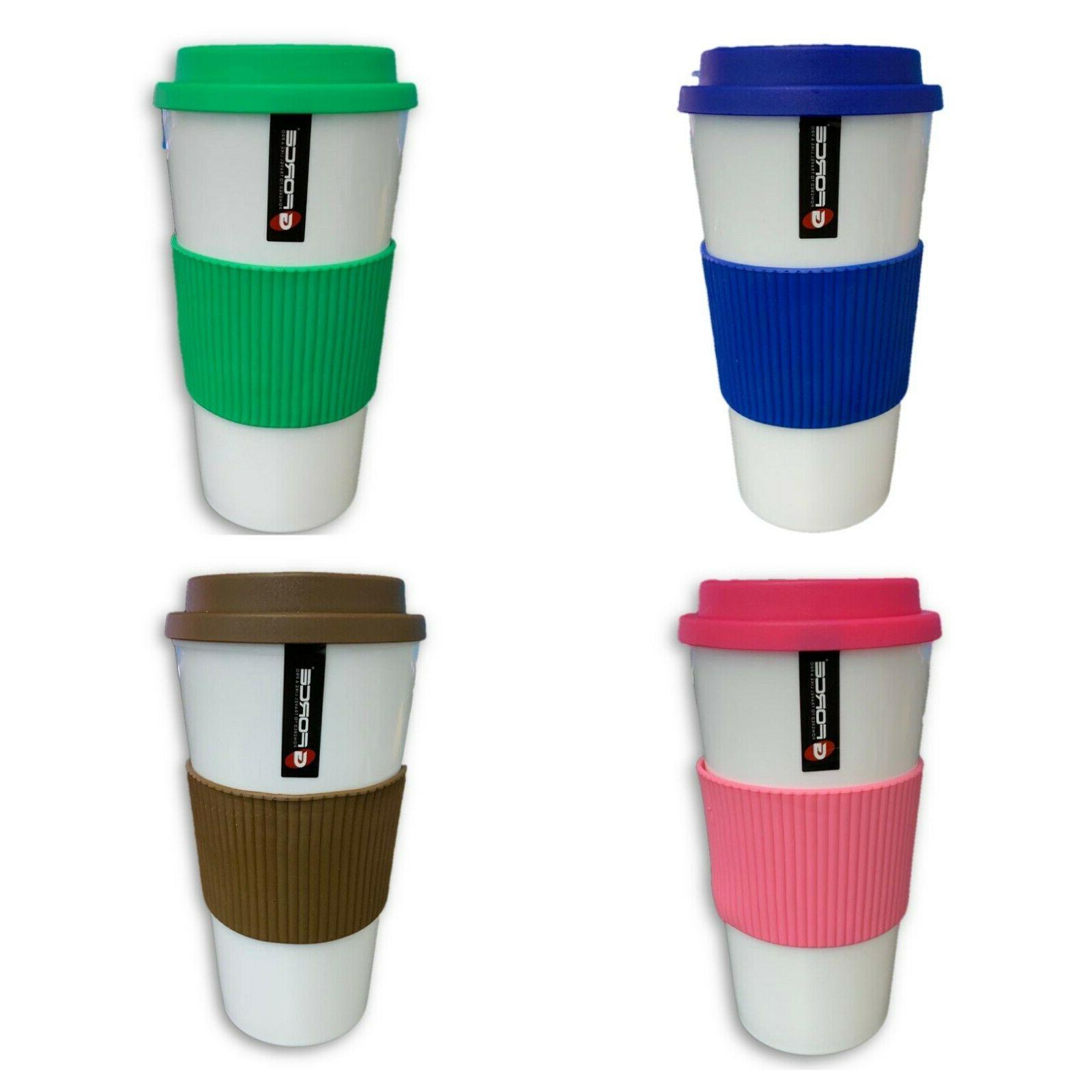 16oz double wall insulated travel mug coffee