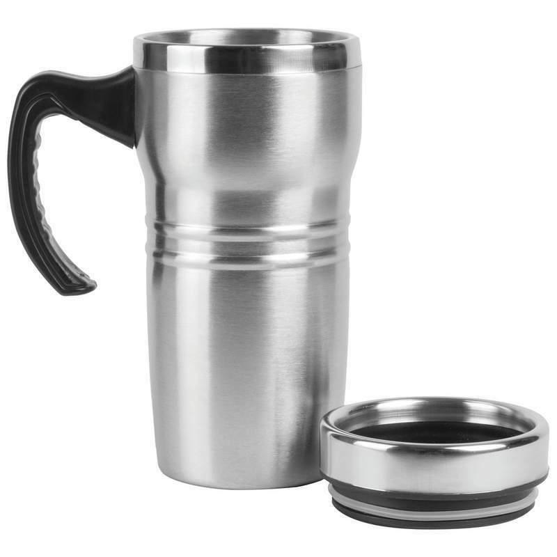 16oz Insulated Coffee Mug Travel Steel Liner Beverage Handle