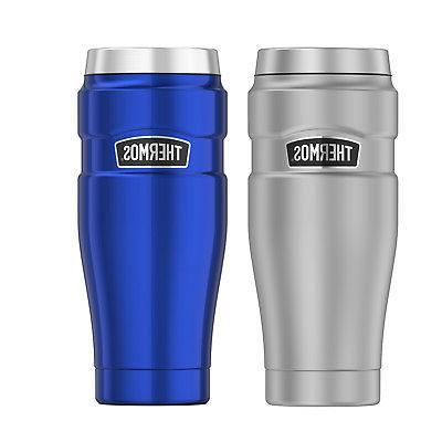 16oz stainless steel travel tumbler coffee mug