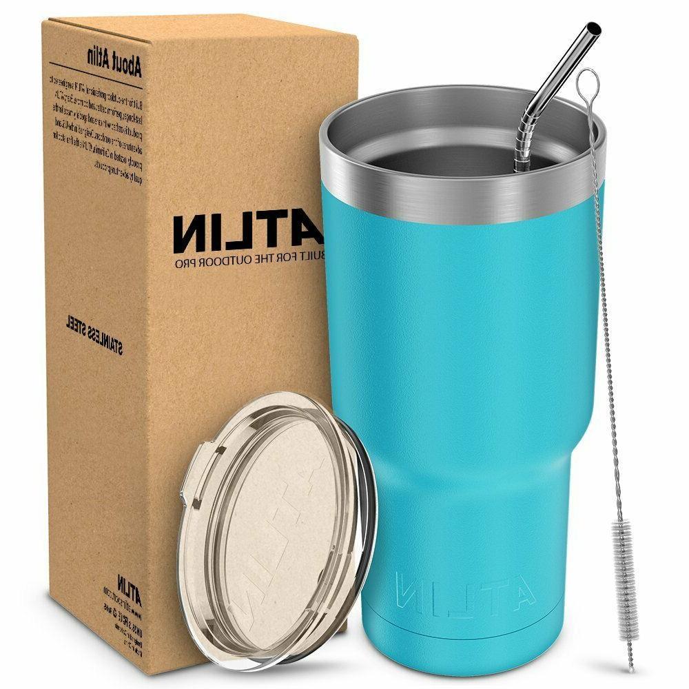 """30oz Vacuum Yeti Rambler Cup Non-Spill Lid Travel Coffee"