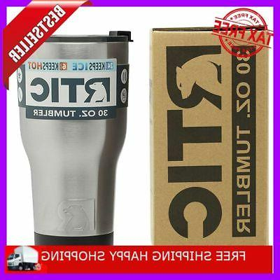 30oz Vacuum Insulated Tumbler Yeti Rambler Cup Non-Spill Lid