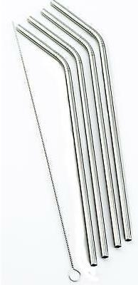 4 Bend Stainless Steel Straws Rocky Mountain 30 Ounce Double