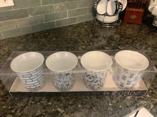 Soho 4 Coffee Mug Set - MICROWAVE AND DISHWASHER NEW