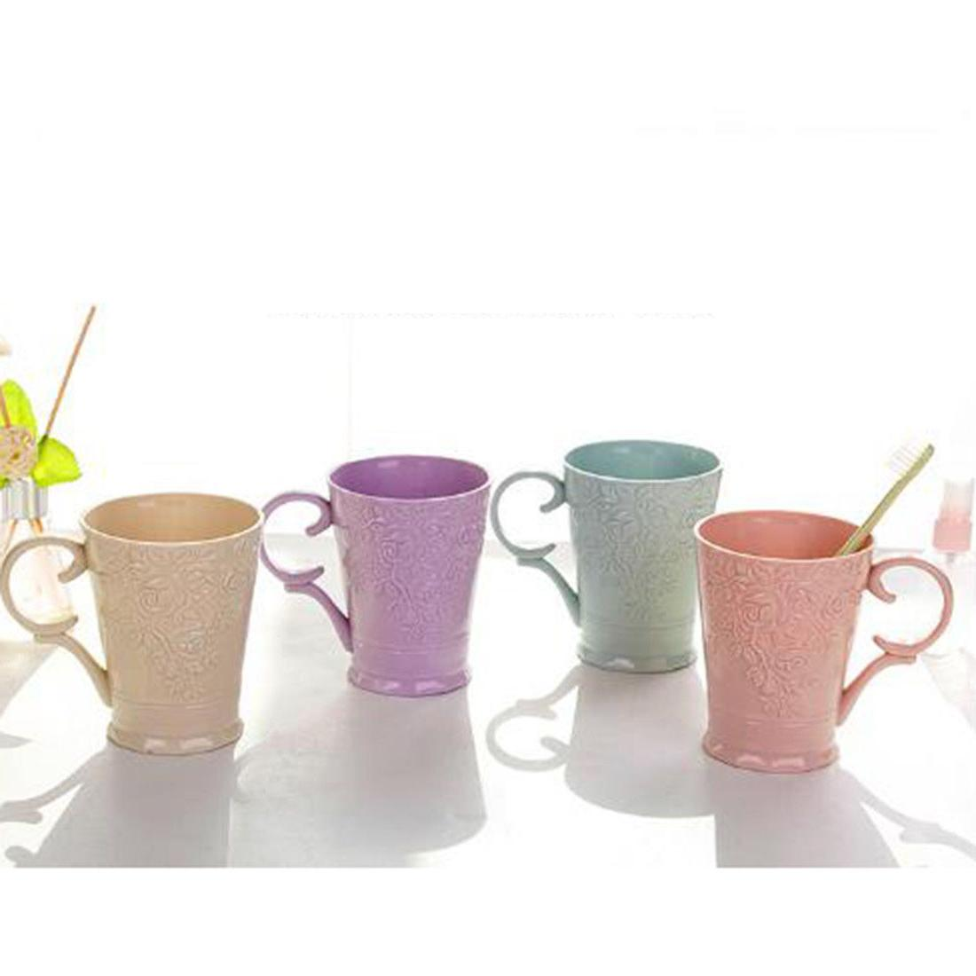 400ml Creative Nice Solid color Coffee Mug Plastic Cup Gift