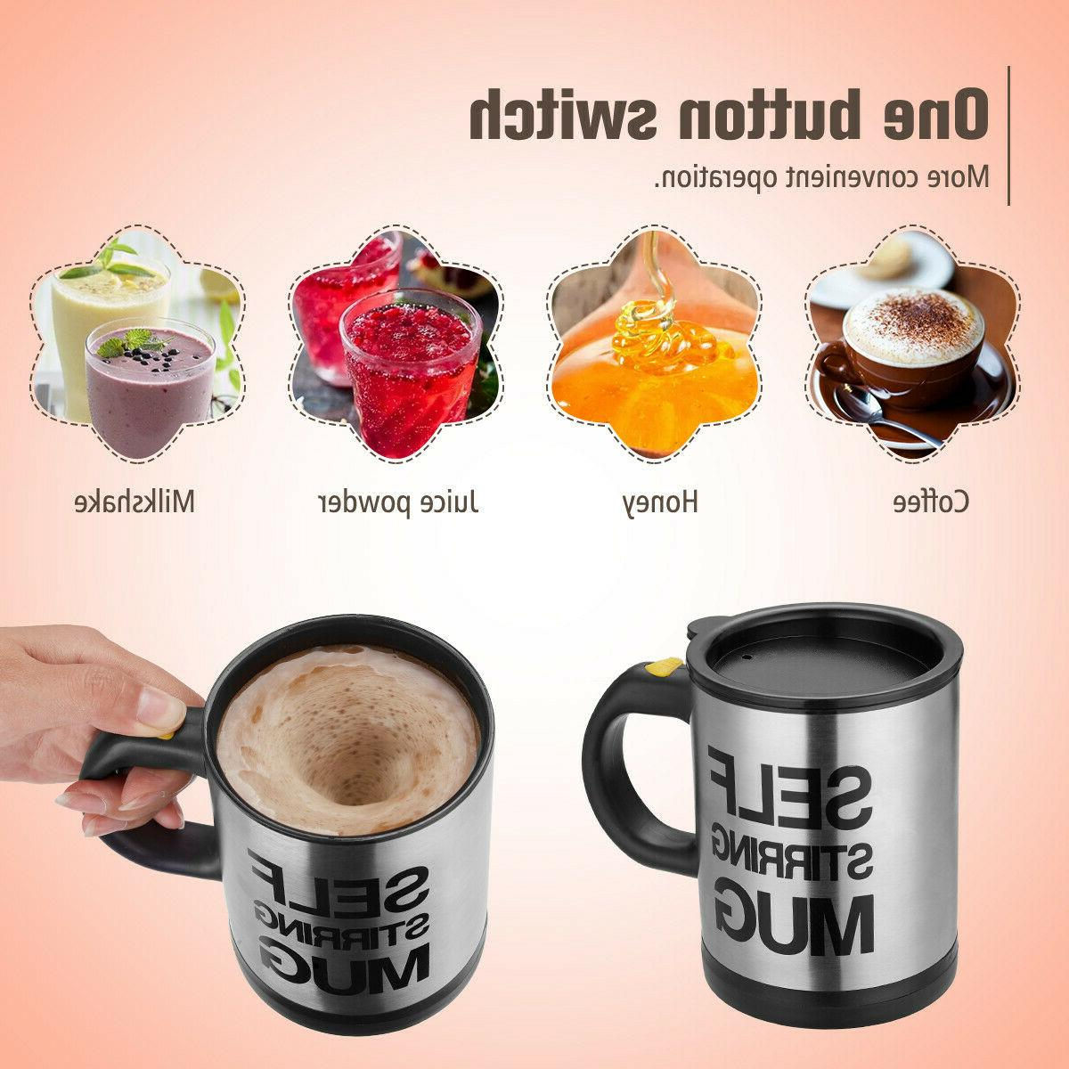 400ml Self Stirring Coffee Cup Mixer Drink Stainless