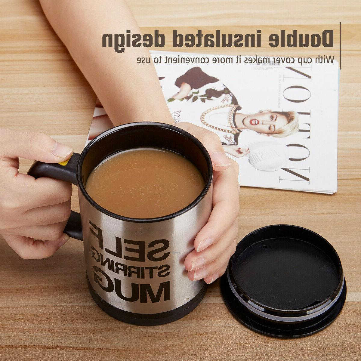 400ml Mug Coffee Auto Mixer Drink Home Stainless