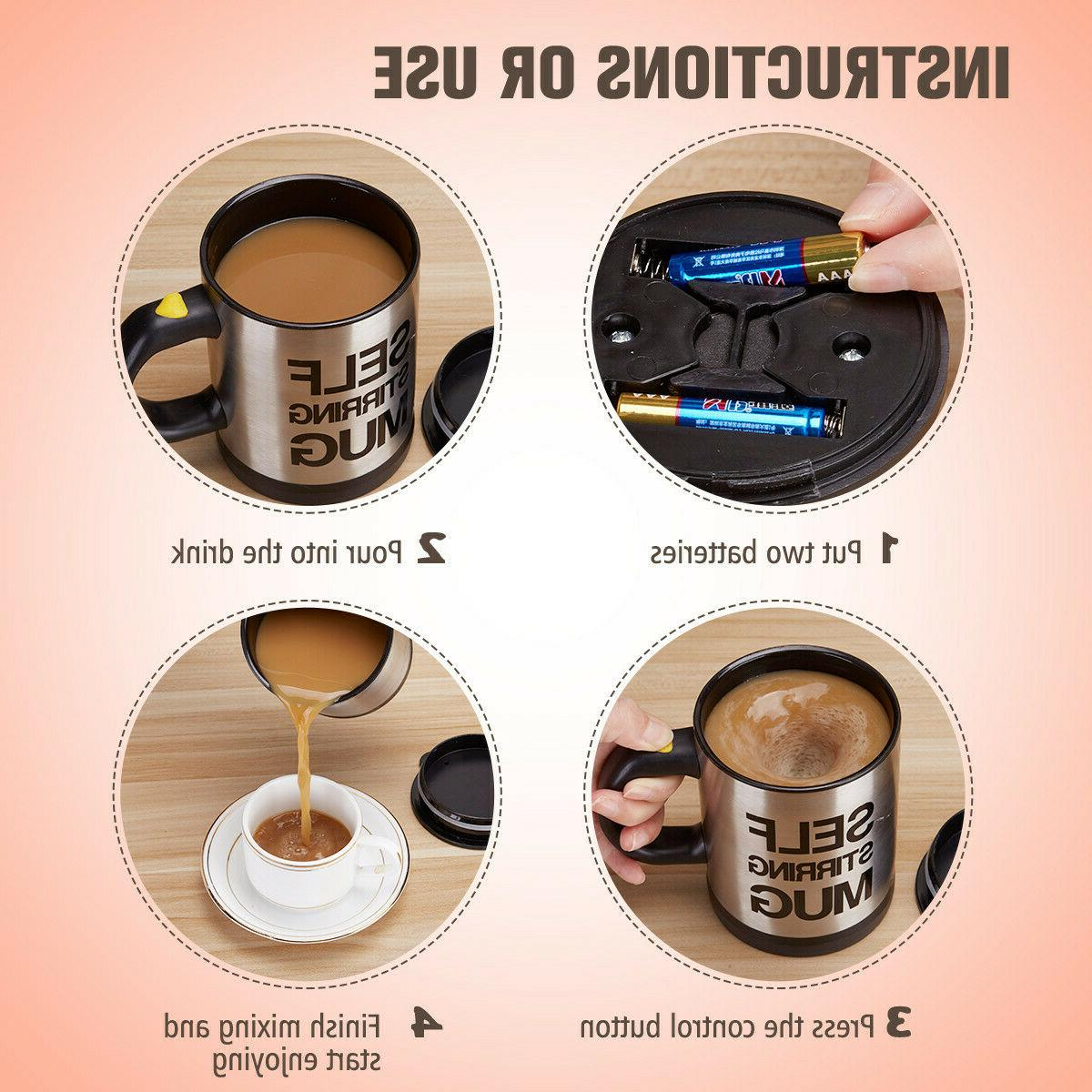 400ml Self Mug Coffee Cup Drink Tea Home Stainless