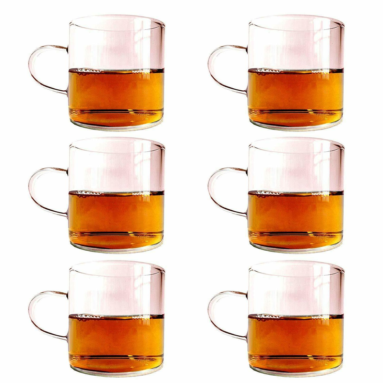 Teacup 5oz Glass Cup Tea Coffee wine Mug with handle Glasswa