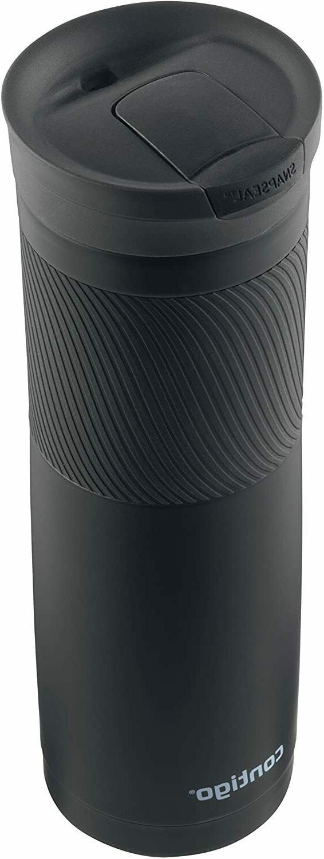 24oz Stainless Coffee Travel Mug Thermos Insulated Black NEW