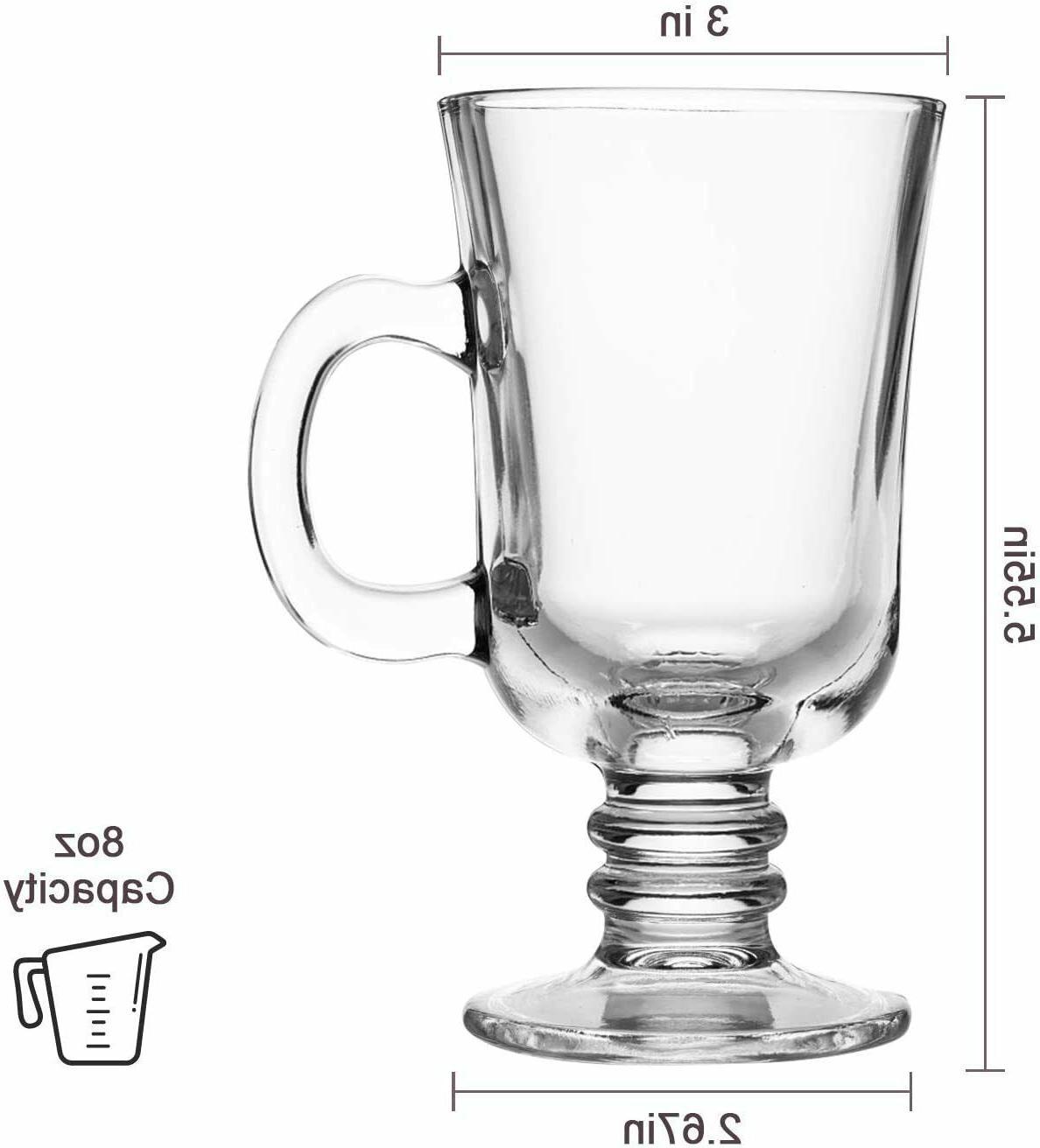 8oz Mug,Glass Mugs Handle,Drinkware