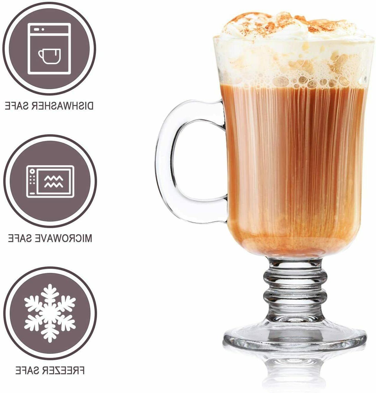 8oz Mug,Glass With Handle,Drinkware Glass