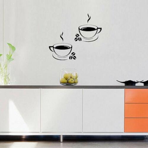 Coffee Art Decal Stickers Kitchen Restaurant
