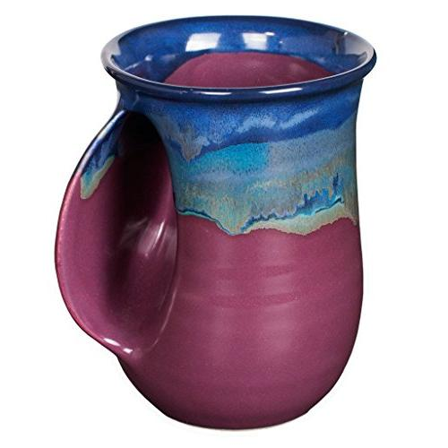 Clay in Motion Handwarmer Mug - Purple Passion - Right Hande