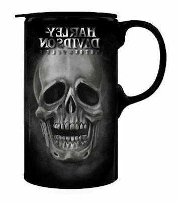 56e76b8e503 Harley-Davidson Tall Boy Travel Latte Mug, H-D Skull, Gift B