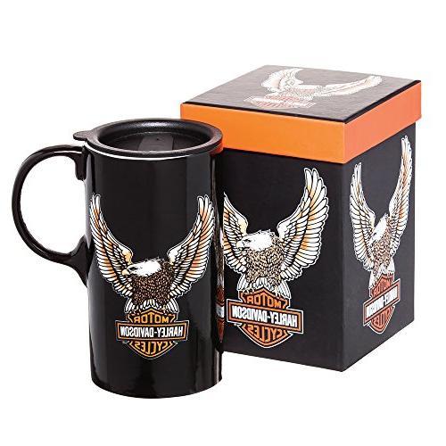 8de6c929020 Harley-Davidson Travel Latte Mug, Bar & Shield Eagle