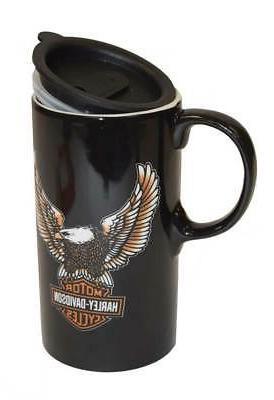 b207c7449c1 Harley-Davidson Travel Latte Mug, Bar & Shield Eagle Tall Bo