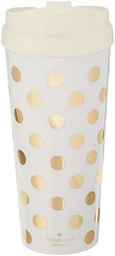 Kate Spade New York Thermal Mug, Gold Dot, Gold/Dots