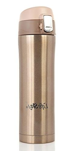 LifeSky Stainless Steel Insulated Travel Coffee Mug, 16 oz,