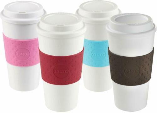 Copco Acadia Insulated Coffee Mug BPA Free 16 Oz Pack of 4 P