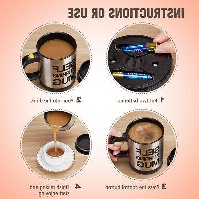 Self Stirring Cup Spin Drink Tea Stainless 300ml