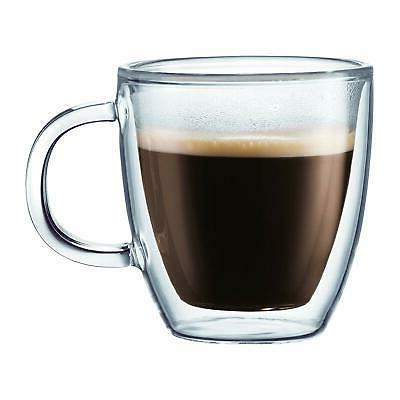 bistro coffee double wall insulated glass clear