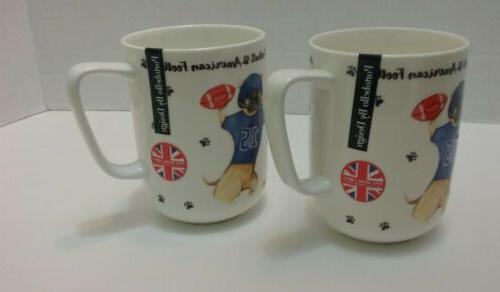 bone china coffee mug american football set