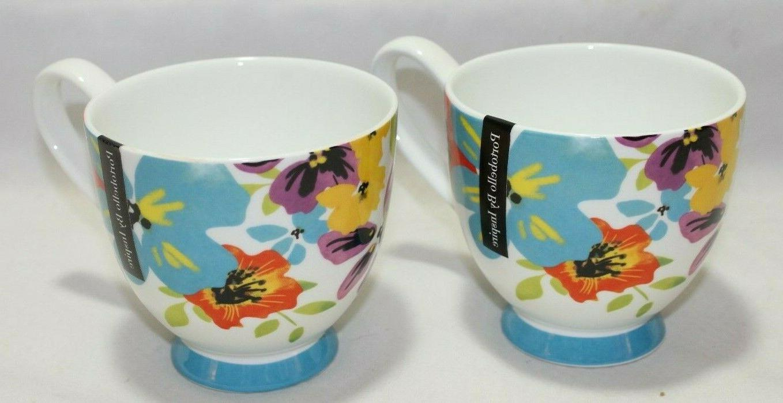 Portobello Inspire China Set Coffee Mugs Floral New