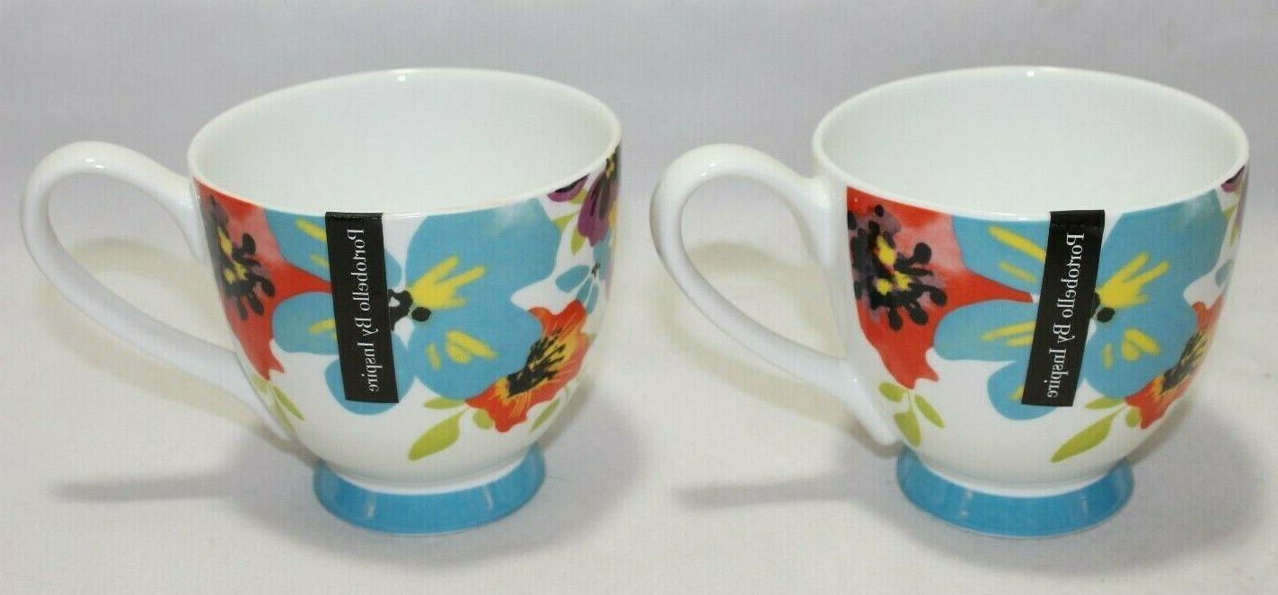 bone china set of two coffee mugs