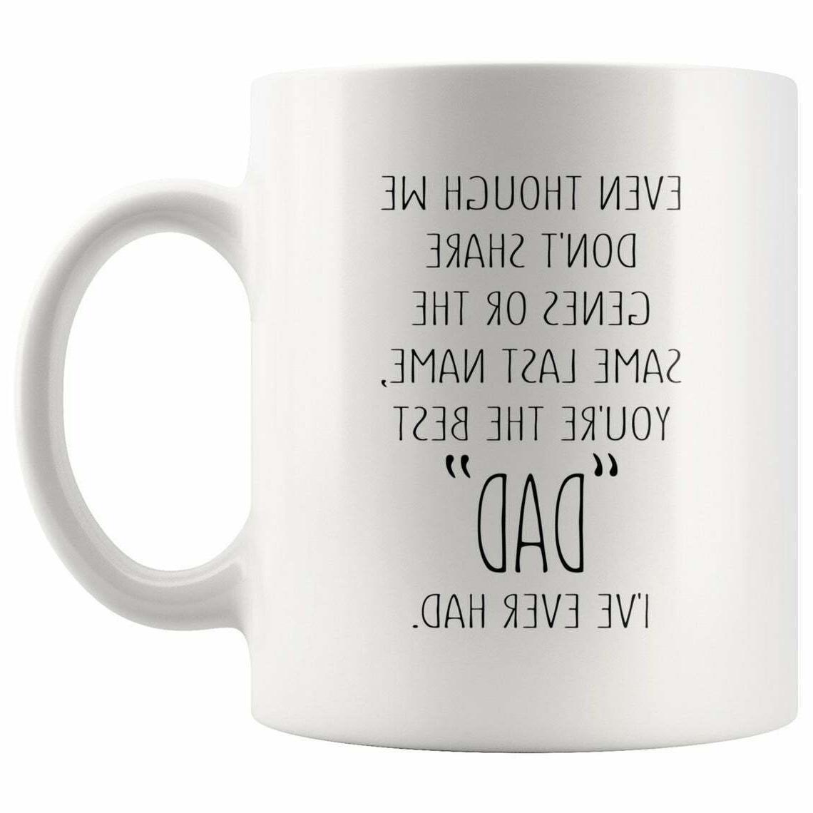 Bonus Dad Fathers Day Gift Stepdad Coffee Mug From Daughter