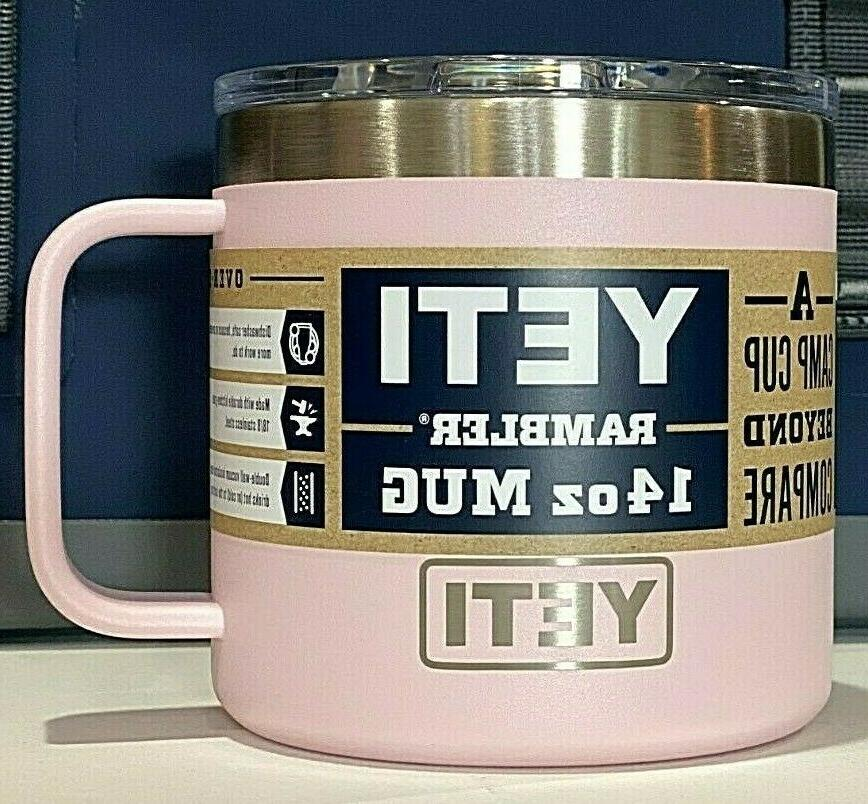 Brand New AUTHENTIC YETI Rambler 14 oz MUG with Original YET