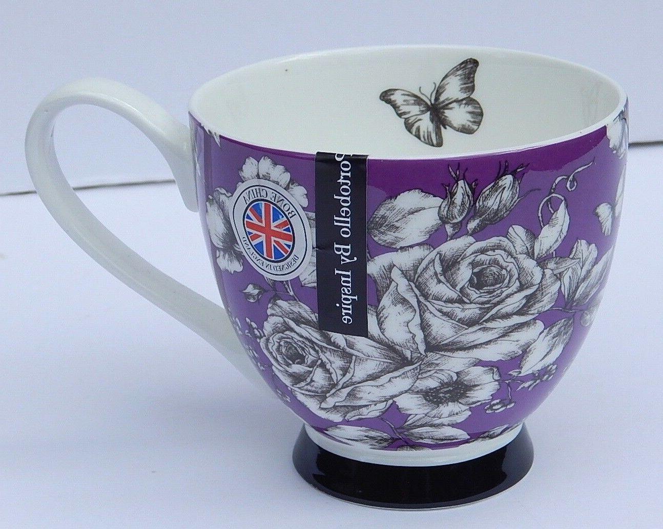 PORTOBELLO INSPIRE BONE CHINA PURPLE F COFFEE DESIGN ENGLAND