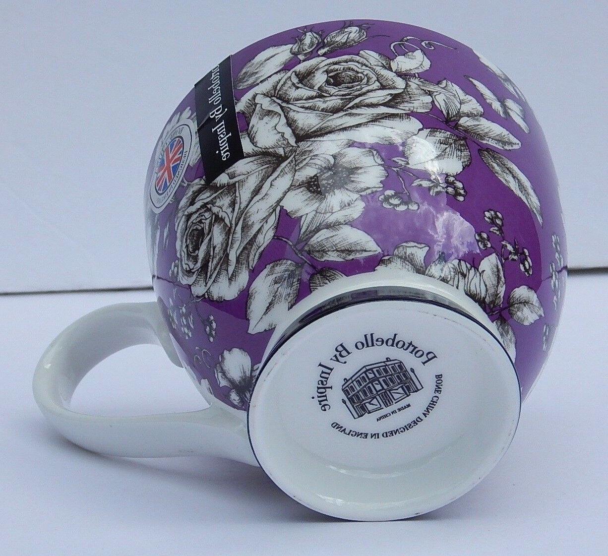 BONE PURPLE COFFEE MUG NEW DESIGN ENGLAND