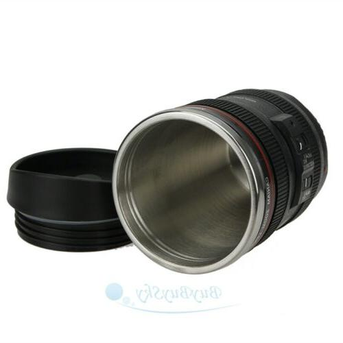 Camera Lens Coffee Cup Tea Funny DSLR Thermos