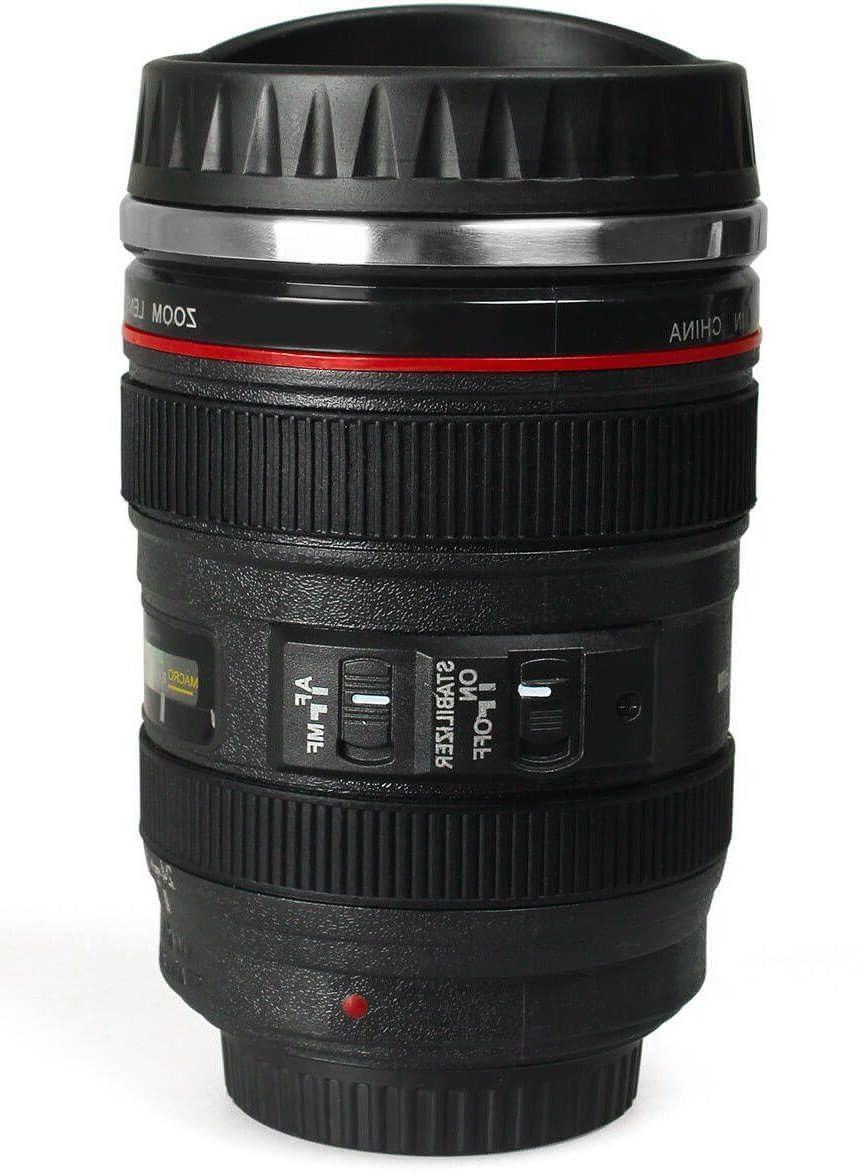 Camera Lens Cup Tea Travel Photo Funny DSLR