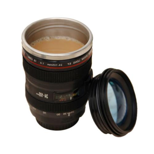 Camera Cup 24-105 Coffee Tea Travel Stainless Steel Thermos