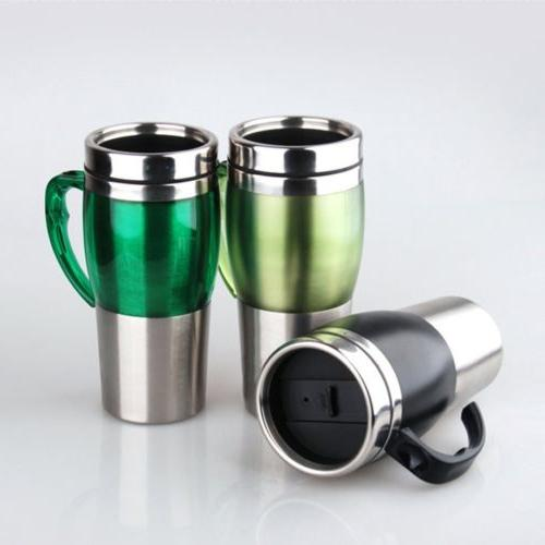 Car Electric Heated Drink Travel Hot Coffee Tea Water Cup Mu