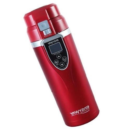 Car Heat Travel Mug Coffee Warmer with LED Temperature Displ